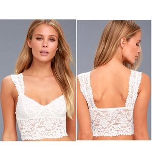 🛍2 for $25🛍NWT Free People Dream Away Lace Brami